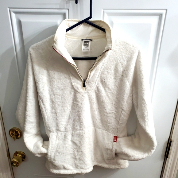 Pullover polyester The North Face white jacket